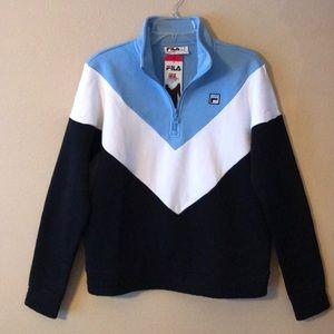 NEW FILA 1/4 ZIP Pullover Sweatshirt